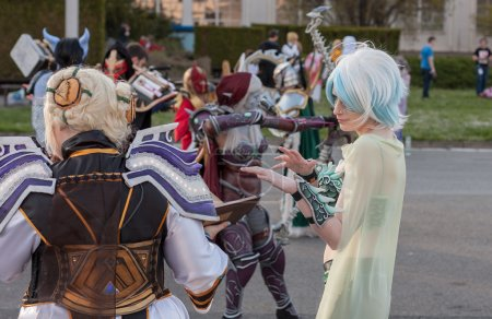 Cosplayer dressed as characters Yulon