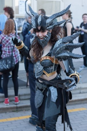 Cosplayer dressed as the character