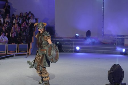 Cosplayer dressed as character Dovahkiin