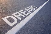 Slovo sen s řádkem