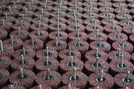 group of sandpaper wheel