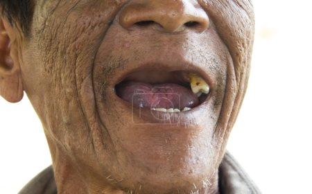 Man smoking cigarette,Image blur style