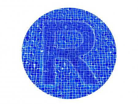 Capital letter R of water