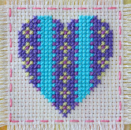 Heart, embroidery, valentines. Valentine's Day