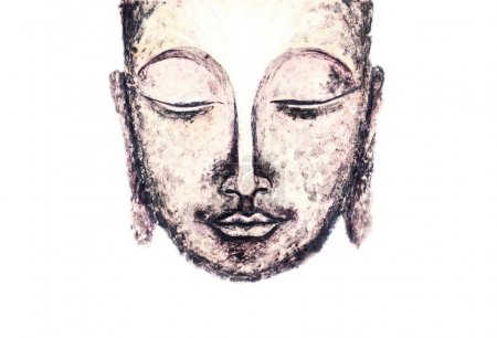 Serene smile of the Buddha, the embodiment of tran...