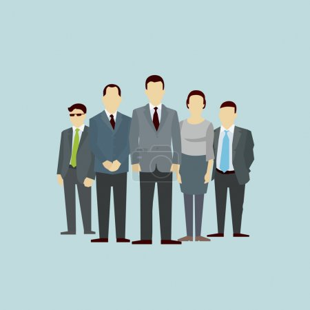 Illustration for Teamwork. Concept of Group of People. Vector flat. Team work partnership leadership connection organizational structure - Royalty Free Image