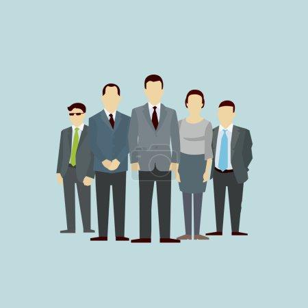 Illustration pour Travail d'Équipe. Concept de Groupe de Personnes. Vecteur plat. Structure organisationnelle de partenariat de partenariat d'équipe - image libre de droit