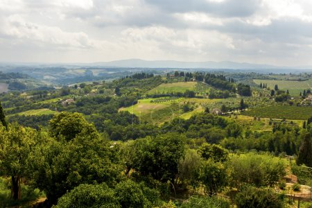 Rural landscapes of beautiful Tuscany, Italy