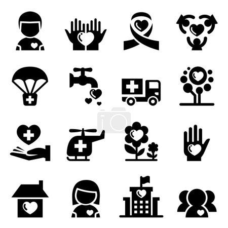 Charity icon set vector illustration  symbol