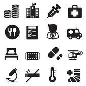 Silueta nemocnice ikony nastavit