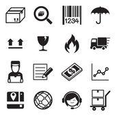 Logistic  dodávky ikona sada vektorové ilustrace
