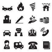 Insurance Icons Vector Illustration Symbol Set3