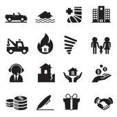 Insurance Icons Vector Illustration Symbol Set 2