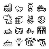 Toy icons set vector illustration