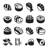 Sushi icons set vector illustration