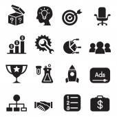Spouštěcí ikony nastavit vektorové ilustrace