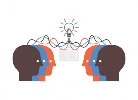 Photo pour Contexte abstrait sur le remue-méninges pour faire des idées. Illustration vectorielle . - image libre de droit