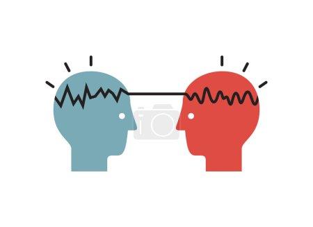 Photo pour Une façon de penser homme et femme. Illustration vectorielle . - image libre de droit