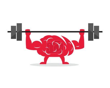 Train your brain. Creative concept.