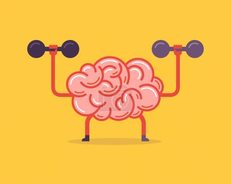 Illustration for Train your brain. Creative concept, vector illustration. - Royalty Free Image