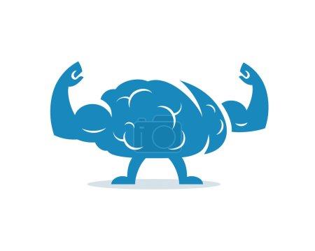 Train your brain. Vector illustration.