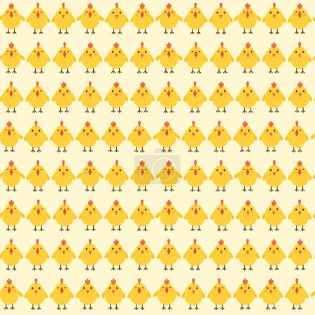 Chicken seamless pattern.