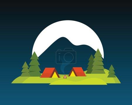 Camping landscape.