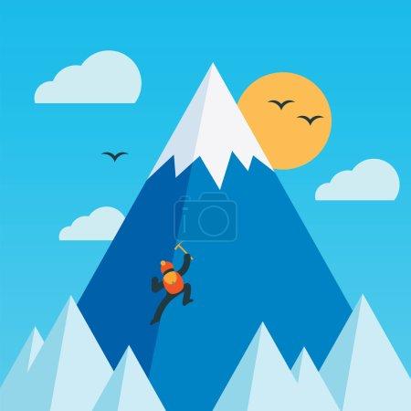 Photo pour Alpiniste. Illustration vectorielle colorée . - image libre de droit