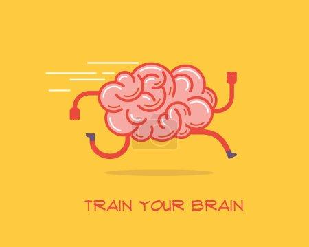 Photo pour Entraîne ton cerveau. Concept créatif, illustration vectorielle . - image libre de droit