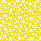 Seamless summer pattern on yellow background