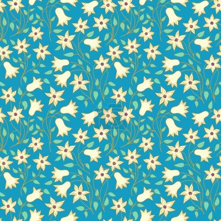Photo pour Motif floral vintage coloré sans couture . - image libre de droit