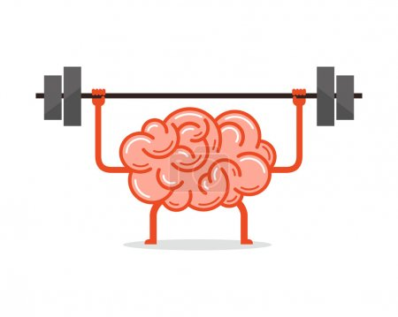 Illustration pour Entraîne ton cerveau. Concept créatif, illustration vectorielle . - image libre de droit