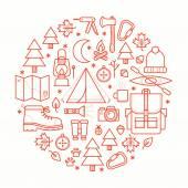 Kolekce Kemp zařízení symboly a ikony