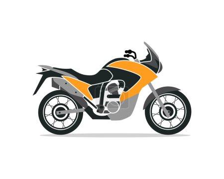 Photo pour Une moto. Illustration vectorielle colorée . - image libre de droit