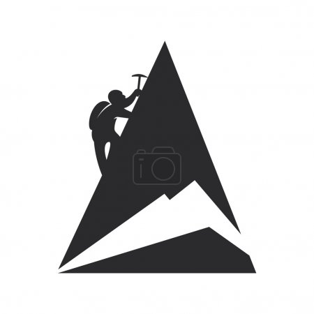Mountain climber. Vector illustration.