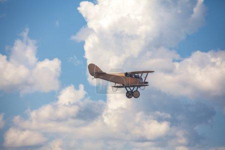 War airplane on cloudy sky