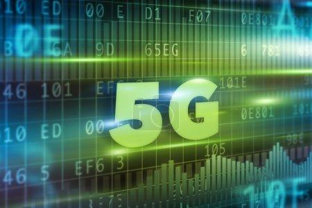 5G green text