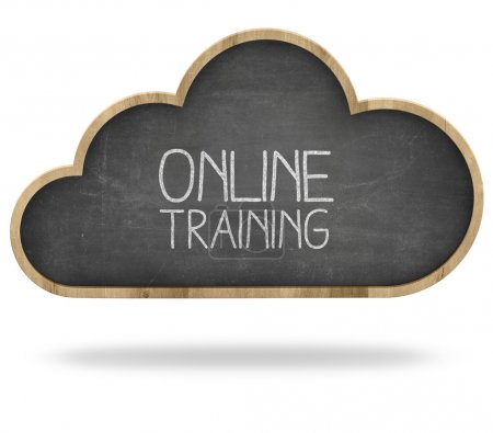 Online training and Cloud computing concept