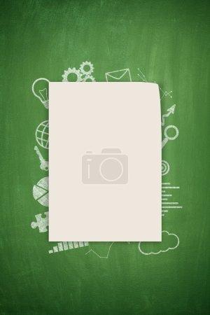 Concept on black blackboard