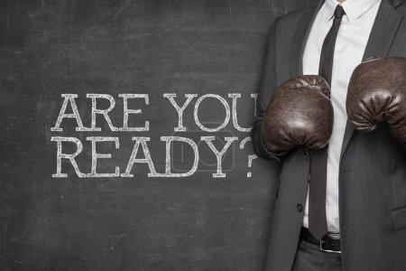 Are you ready on blackboard with businessman