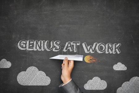 Genius at work concept