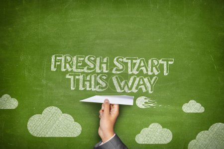 Fresh start this way concept