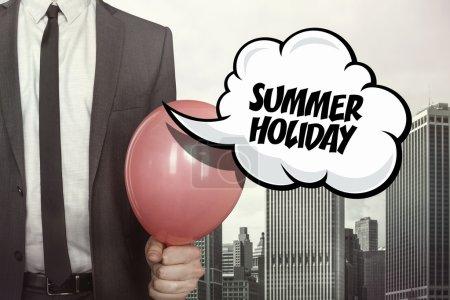 Summer holiday text on speech bubble