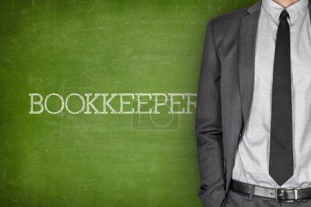 Bookkeeper on blackboard