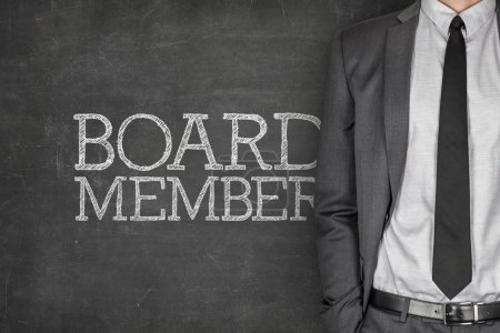 Board member on blackboard