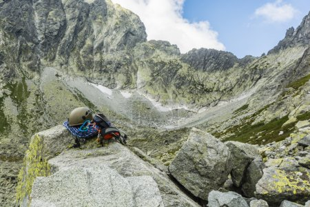 Climbing equipment against Tatra ridge
