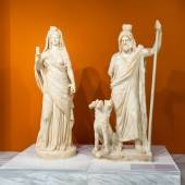 Sculptures in the Archaeological Museum of Heraklion, Crete