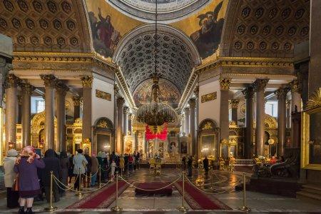Interior of Kazan Cathedral in Saint Petersburg, Russia