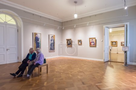 Hall with Impressionist paintings PierreAuguste