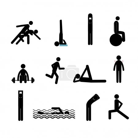 Active lifestyle stick man set